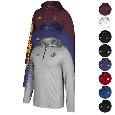 NCAA Adidas Mens Sideline 14 Zip Training Performance Hoodie Collection S-4XL