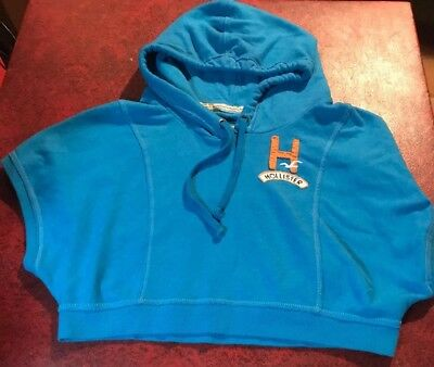 Hollister - Co- Cropped Hoodie Hooded Short Sleeve  Size M Medium