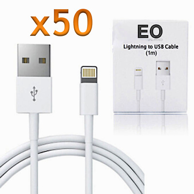 Apple Lightning USB for iPhone - iPad  Charge - Sync Wholesale Lot - 50 Cables