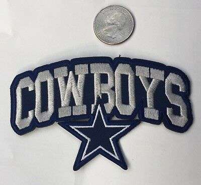 Dallas Cowboys vintage embroidered iron on Patches 4x 2 12 Nice