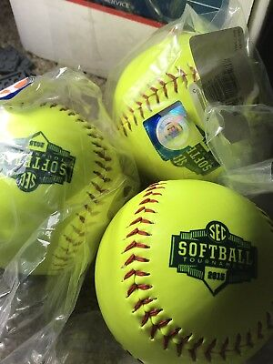 Lot Of 3 Full Size 2015 SEC Tournament Softballs Auburn