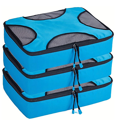 3-PCs Packing Cubes Travel Organizer Luggage Compression Bag Size L