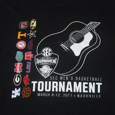 2017 Mens Basketball SEC Tournament Nashville LST-Shirt Size Med-UK WildCats