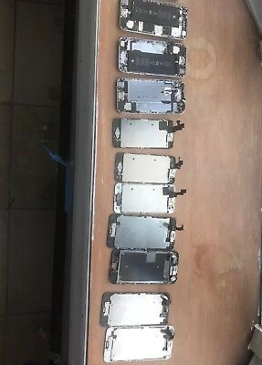 Lot of 10 Mixed Broken iPhone 5 - 6 Cell Phones - Logic Boards- For Parts