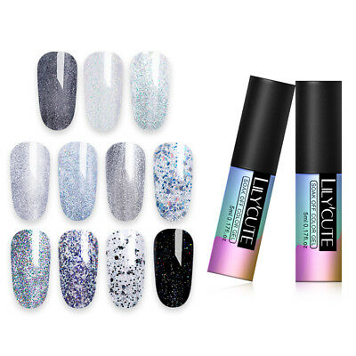LILYCUTE 5ML GLITZERN GELLACK PAILLETTEN NO TOXIC SOAK OFF UV GEL NAIL POLISH