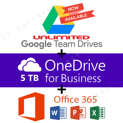 Google Drive Unlimited added to your Account - OneDrive 5TB - Office 365 Pro Plu