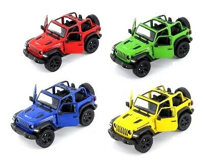 Kinsmart 2018 Jeep Wrangler 134 Scale Diecast Model Toy Car WITHOUT Hard Top