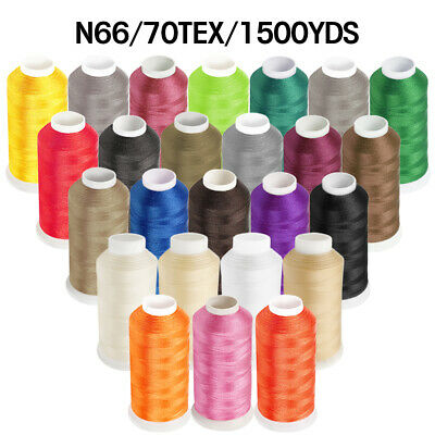 1500YD Nylon Sewing Bonded Thread 69 N66 T70 for Upholstery Leather Beading