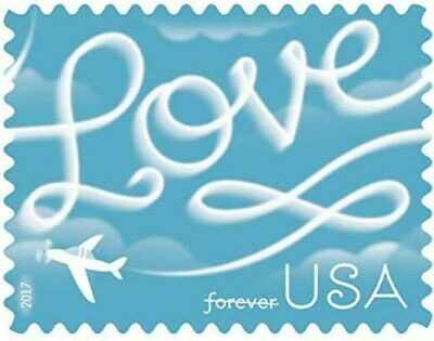100 USPS 2017 Love Skywriting Forever Stamps- First Class Postage Stamp