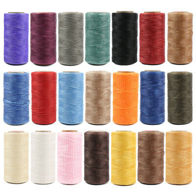 260M Flat Waxed Thread 150D 0-8mm Polyester Cord For Leather Sewing Stitch Craft