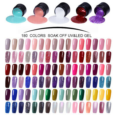 LEMOOC 180 FARBEN UV GEL NAGELLACK NAGEL DESIGN UV LED SOAK OFF DIY GEL LACKE