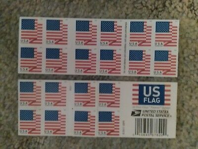 NEW USPS FOREVER Postage Stamps of US FLAGS z BOOKLET STRIP-20 ct-FREE SHIP