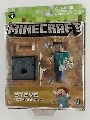 Minecraft Steve With Arrows Figure Toy Series 4 New In Package
