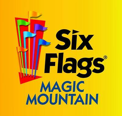 Six Flags Magic Mountain -One-Day Ticket- Regular General Admission Price 89-99
