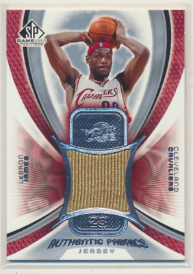 LEBRON JAMES 2004 05 SP GAME USED AUTHENTIC FABRICS JERSEY