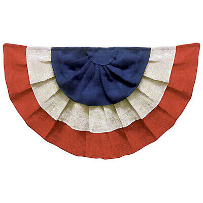 Amscan Stars - Stripes Fourth of July Party Burlap Bunting Banner Decoration