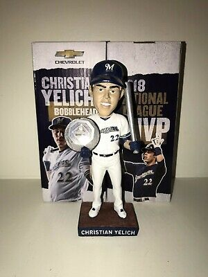 Christian Yelich Bobblehead Milwaukee Brewers Giveaway 6919 SGA MVP New In Box