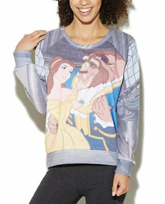 NEW Wet Seal Disney Beauty and the Beast Long Sleeve Top Shirt Sweater Pullover