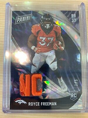 2018 PANINI BLACK FRIDAY ROYCE FREEMAN JERSEY PATCH LOGO 15