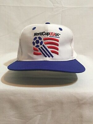 Vintage 1994 World Cup USA 94 Official Snapback Cap Hat Blast White