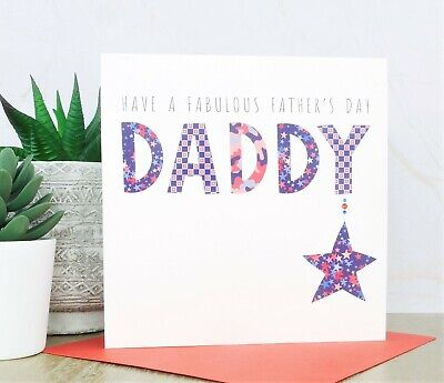 Personalised Handmade Fathers Fathers Day Card DADDY