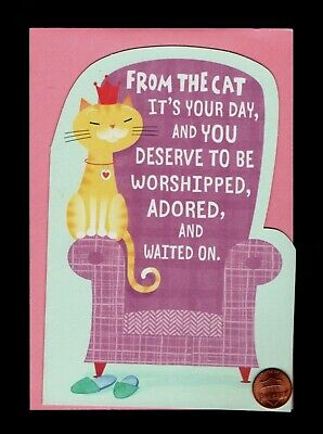 Mothers Day From The Cat Crown Chair Heart  -  Mothers Day Greeting Card