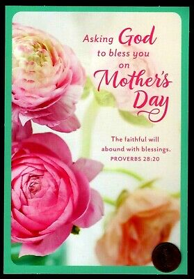 Mothers Day Roses  - PROVERBS 2820 - Religious - Mothers Day Greeting Card