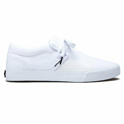 SUPRA Cuba White Mens Skate Shoes