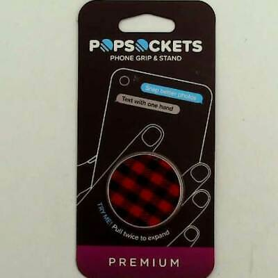 PopSockets Collapsible Grip - Stand for Phones and Tablets - Classic Check Red
