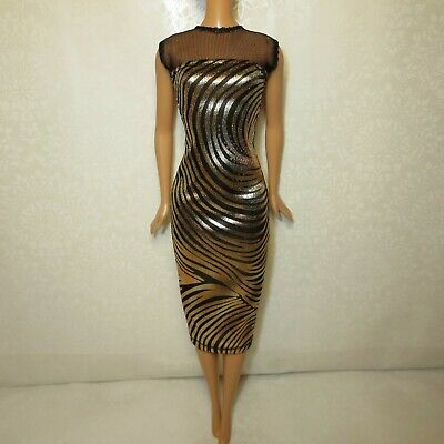 Bodycon Midi Dress for Doll-Handmade Clothes for doll 11-11-5-12in