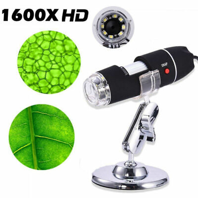 1600x Camera 8LED  Endoscope USB Digital Microscope Magnification with Stand