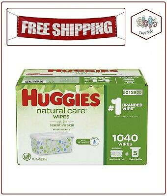 Huggies Natural Care Baby Wipe Refill Fragrance Free 1040 ct-