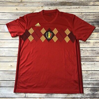 Adidas Climate World Cup Belgium Soccer Team Jersey Retro Style Mens Size L EUC