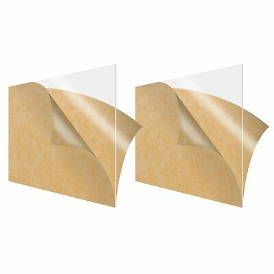 2 Pack Acrylic Sheet Clear 12 x 12 Square 18 Thick 3mm Plexiglass Board