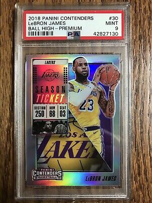 2018 CONTENDERS LEBRON JAMES 30 PREMIUM EDITION PRIZM PSA 9 MINT LAKERS