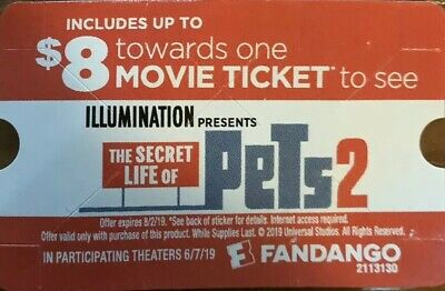 8 Off One Movie Ticket To See The Secret Life Of Pets 2 On Fandango Only