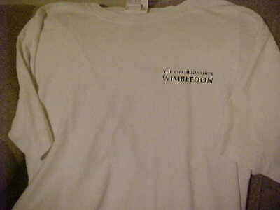 The Championships Wimbledon White Cotton T-shirt - Size LXL - Made in USA