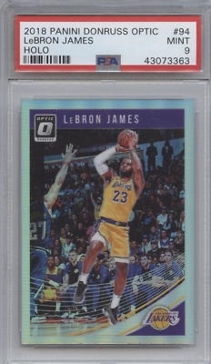 LEBRON JAMES 2018 DONRUSS OPTIC HOLO PRIZM PSA 9 MINT LAKERS
