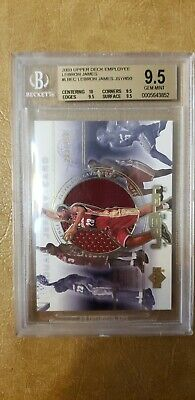 LeBron James 2003 upper deck employee BGS 9-5-   450 LBEC- 10 Centering