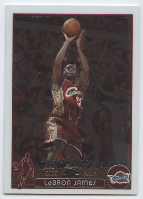 LEBRON JAMES 2003-04 TOPPS CHROME 111 RC ROOKIE CAVALIERS