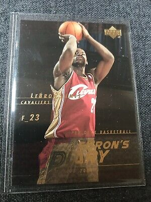 LeBRON JAMES 2003-04 Upper Deck LeBron's Diary LJ12 NMMT Card Cavaliers Rookie