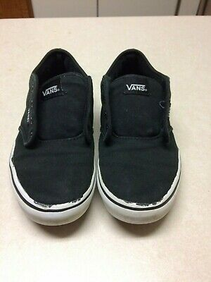 Vans Kids Youth Black skate shoes Size 4-5 Pre-Owned