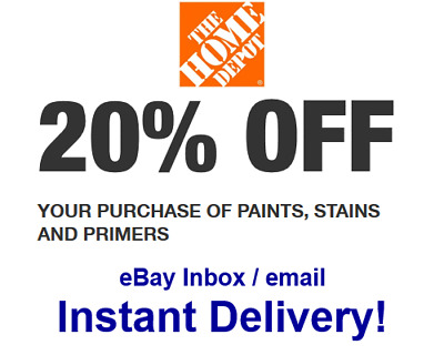Home Depot 20 OFF paint primer Promo-1Coupon In-store Only - FAST Delivery