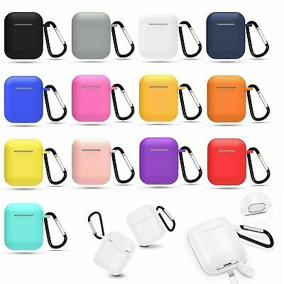 AirPods Silicone Case Cover Protective Skin for Apple Airpod Charging - Keychain