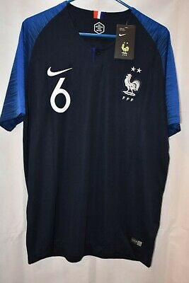 FRANCE 2018 WORLD CUP HOME PAUL POGBA 6 REPLICA NIKE DRI FIT JERSEY NWT
