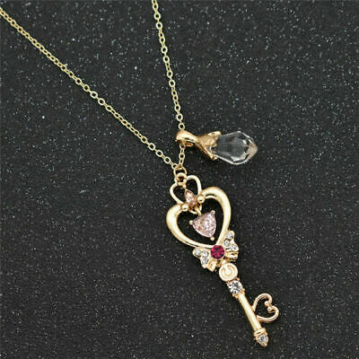 Womens Anime Sailor Moon Necklace Charm Alloy Pendant Jewelry Fans Collection US