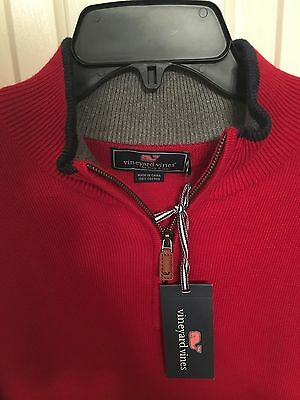 NWT Mens Red Vineyard Vines Prouts Neck Sweater Small