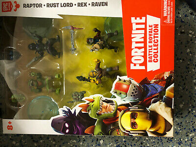 Fortnite Battle Royale Collection 4 Figure Raptor Rust Lord Rex Raven