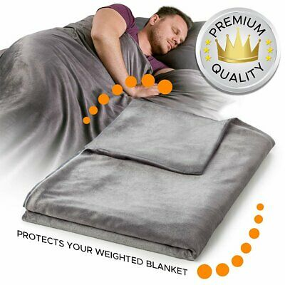 Deluxe Weighted Blanket Duvet Removable Cover 60x80 48x72 Anxiety Relief