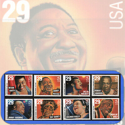 1994  BLUES and JAZZ SINGERS Complete Set of 8 MINT Individual Stamps   2854-61